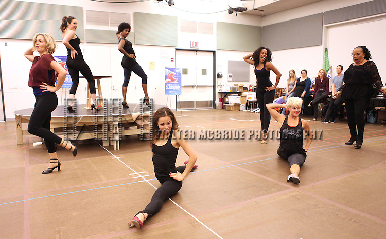 Actress Roz Ryan with ensemble cast performing at the rehearsal presentation for 'Scandalous The Musical' at the New 42nd Street Studios on Monday, Sept. 24, 2012 in New York.