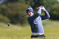 William Small (Tandragee) on the 18th fairway during Round 3 of The East of Ireland Amateur Open Championship in Co. Louth Golf Club, Baltray on Monday 3rd June 2019.<br /> <br /> Picture:  Thos Caffrey / www.golffile.ie<br /> <br /> All photos usage must carry mandatory copyright credit (© Golffile | Thos Caffrey)