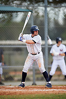 Western Connecticut Colonials third baseman Bill Buscetto (16) at bat during the first game of a doubleheader against the Edgewood College Eagles on March 13, 2017 at the Lee County Player Development Complex in Fort Myers, Florida.  Edgewood defeated Western Connecticut 3-0.  (Mike Janes/Four Seam Images)