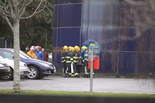 Two units of Drogheda Fire service attended a fire drill and accident in IFF factory in Drogheda..Photo: Fran Caffrey/www.newsfile.ie...