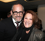 Bill Veloric and Linda Lavin at The Red Barn Studio Theatre Off-Broadway production of 'Positions' at the Roy Arias Studio Theatre on October 10, 2012 in New York City.