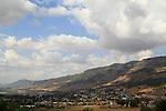 Israel, Upper Galilee, a view of Kiryat Shmona from Tel Hai