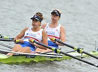 Amsterdam, NETHERLAND, GBR BW2X Bow Rachel GAMBLE-FLINT and Sarah COWBURN.  2011 FISA U23 World Rowing Championships, {dow], {date} [Mandatory credit:  Intersport Images].