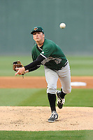 Starting pitcher Matt Gage (49) of the Augusta GreenJackets delivers a pitch in a game against the Greenville Drive on Opening Day, Thursday, April 9, 2015, at Fluor Field at the West End in Greenville, South Carolina. Greenville won, 3-2. (Tom Priddy/Four Seam Images)