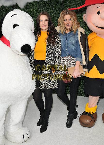 Kat Shoob &amp; Olivia Cox attend the &quot;Snoopy &amp; Charlie Brown: The Peanuts Movie 3D&quot; gala film screening, Vue West End cinema, Leicester Square, London, England, UK, on Saturday 28 November 2015.<br /> CAP/CAN<br /> &copy;Can Nguyen/Capital Pictures