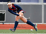 EASTON, MA - NOVEMBER 20:  Cassie Rawa (7) of Shippensburg University passes against LIU Post during the NCAA Division II Field Hockey Championship at WB Mason Stadium on November 20, 2016 in Easton, Massachusetts.  Shippensburg University defeated LIU Post 2-1 for the national title. (Photo by Winslow Townson/NCAA Photos via Getty Images)