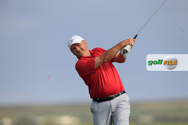 Tom Griffin (England) on the 2nd tee during Round 2 of the South of Ireland Amateur Open Championship at LaHinch Golf Club on Thursday 23rd July 2015.<br /> Picture:  Golffile | Thos Caffrey
