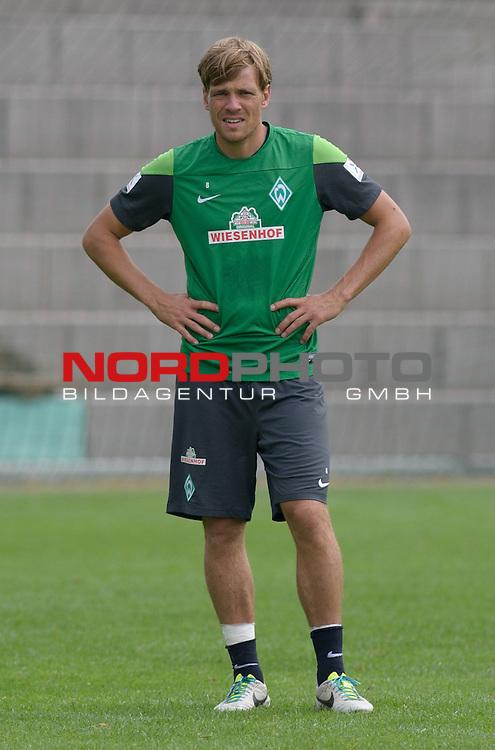 25.07.2013, Sportplatz, Blankenhain, GER, 1.FBL, Trainingslager Werder Bremen 2013, im Bild Clemens Fritz (Bremen #8)<br /> <br /> Foto &copy; nph / Frisch