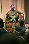 Tarell Alvin McCraney, Friday, April 21, 2017 in the Lincoln Park Student Center. (Photo by Diane M. Smutny)
