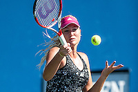 NEW YORK, NY – AUGUST 25: Kristina Mladenovic (FRA)  practces during the day session of the first round of the 2014 US Open.