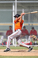 Baltimore Orioles outfielder Glynn Davis #12 during an Instructional League game against the Boston Red Sox at Buck O'Neil Complex on October 6, 2011 in Sarasota, Florida.  (Mike Janes/Four Seam Images)