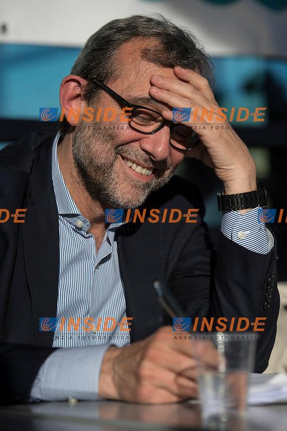 Roberto Giachetti Centro Sinistra <br /> Roma 03-05-2016 Citta' dell'Altra Economia <br /> Confronto pubblico tra alcuni dei candidati a sindaco di Roma. <br /> Public debate between Rome's mayor candidates . <br /> Foto Andrea Staccioli Insidefoto