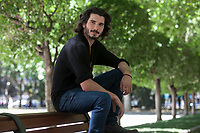 Spanish actor Yon Gonzalez poses during `Matar el Tiempo´ film premiere in Madrid, Spain. May 27, 2015. (ALTERPHOTOS/Victor Blanco)