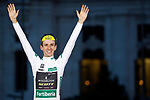 Simon Yates (GBR) Mitchelton-Scott finishes on the podium in 1st place overall his first ever Grand Tour victory, and also wins the Combined Jersey at the end of the final Stage 21 of the La Vuelta 2018, running 100.9km for Alcorcon to Madrid, Spain. 16th September 2018.                   <br /> Picture: Unipublic/Photogomezsport | Cyclefile<br /> <br /> <br /> All photos usage must carry mandatory copyright credit (© Cyclefile | Unipublic/Photogomezsport)