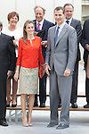 King Felipe VI of Spain and Queen Letizia of Spain attend the 2013 'Innovation and design' awards ceremony at Museo de la Ciencia in Valladolid, Spain. July 01, 2014. (ALTERPHOTOS/Victor Blanco)