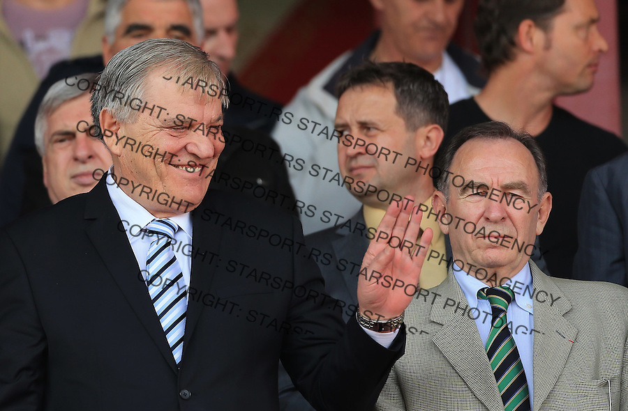 Fudbal UEFA U17 Elite round<br /> Srbija v Nemacka<br /> Tomislav Karadzic (L) and Ivan Curkovic<br /> Novi Sad, 03.31.2014.<br /> Foto: Srdjan Stevanovic/Starsportphoto.com&copy;