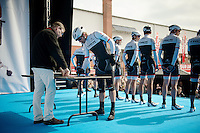 Fabian Cancellara (SUI/TREK Factory Racing) signing in<br /> <br /> 58th E3 Harelbeke 2015