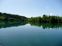 Lombardia, paesaggio sul fiume Adda.<br /> Lombardy, landscape on the Adda river.