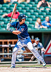 18 July 2018: New Hampshire Fisher Cats catcher Max Pentecost in action against the Trenton Thunder at Northeast Delta Dental Stadium in Manchester, NH. The Thunder defeated the Fisher Cats 3-2 concluding a previous game started April 29. Mandatory Credit: Ed Wolfstein Photo *** RAW (NEF) Image File Available ***