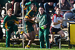 David Raikuna sprints down the touchline infront of his team bench. Counties Manukau Premier Club Rugby game between Pukekohe and Waiuku played at Colin Lawrie Fields, Pukekohe, on Saturday July 3rd 2010. Pukekohe won 31 - 12 after leading 15 - 9 at halftime.