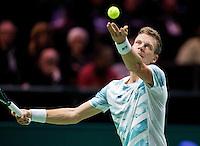 Februari 12, 2015, Netherlands, Rotterdam, Ahoy, ABN AMRO World Tennis Tournament, Tomas Berdych (CZE)<br /> Photo: Tennisimages/Henk Koster