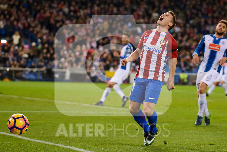 Atletico de Madrid's player Kevin Gameiro during match of La Liga between Atletico de Madrid and RCD Espanyol at Vicente Calderon Stadium in Madrid, Spain. December 03, 2016. (ALTERPHOTOS/BorjaB.Hojas)