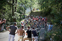 last grupetto up the Lacets de Montvernier (2C/782m/3.4km, 8.2%)<br /> <br /> stage 18: Gap - St-Jean-de-Maurienne (187km)<br /> 2015 Tour de France