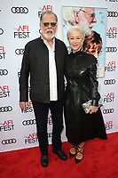 HOLLYWOOD, CA - NOVEMBER 12: Taylor Hackford, Helen Mirren, at The Leisure Seeker Special Screening During AFI Fest 2017 at the Egyptian Theatre in Hollywood, California on November 12, 2017. Credit: Faye Sadou/MediaPunch /NortePhoto.com
