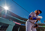 22 June 2019: Toronto Blue Jays third baseman Vladimir Guerrero Jr. takes the field prior to a game against the Boston Red Sox at Fenway :Park in Boston, MA. The Blue Jays rallied to defeat the Red Sox 8-7 in the 2nd game of their 3-game series. Mandatory Credit: Ed Wolfstein Photo *** RAW (NEF) Image File Available ***
