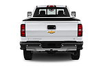 Straight rear view of a 2018 Chevrolet Silverado 2500 LT Crew Cab 4 Door Pick Up stock images