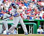 25 April 2010: Los Angeles Dodgers' center fielder Matt Kemp at bat against the Washington Nationals at Nationals Park in Washington, DC. The Nationals shut out the Dodgers 1-0 to take the rubber match of their 3-game series. Mandatory Credit: Ed Wolfstein Photo