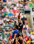 New Zealand play Samoa in the Cup Quarter Final on Day 3 of the Cathay Pacific / HSBC Hong Kong Sevens 2013 on 24 March 2013 at Hong Kong Stadium, Hong Kong. Photo by Victor Fraile / The Power of Sport Images
