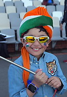 An India fan during day three of the International Test Cricket match between the New Zealand Black Caps and India at the Basin Reserve in Wellington, New Zealand on Sunday, 23 February 2020. Photo: Dave Lintott / lintottphoto.co.nz