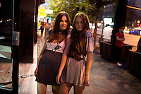 ROMANIA / Bucharest /06.10.2009 / Twins, Irina and Iulia, who are 20 and from the northern city of Suceava but studying in Bucharest. © Davin Ellicson / Anzenberger