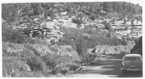 Site of RGS Bridge 158-C.  The trestle is filled and a culvert was put in further along route in Durango direction.<br /> RGS  Porter area, CO  Taken by Maxwell, John W. - 8/4/1961