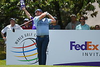 Tyrrell Hatton (ENG) watches his tee shot on 13 during round 2 of the WGC FedEx St. Jude Invitational, TPC Southwind, Memphis, Tennessee, USA. 7/26/2019.<br /> Picture Ken Murray / Golffile.ie<br /> <br /> All photo usage must carry mandatory copyright credit (© Golffile | Ken Murray)