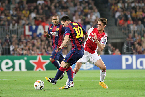 21.10.2014. Camp Nou, Barcelona, Spain. UEFA Champions League. Barcelona versus Ajax.  Messi in action