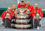Serbian  Davis Cup team, Davis Cup finals, Serbia vs France in Belgrade Arena in Belgrade, Serbia, Sunday, 5. December 2010. (credit & photo: Pedja Milosavljevic/SIPA PRESS)