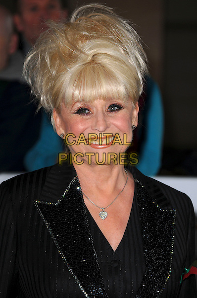 BARBARA WINDSOR .The Co-operative Variety Club Showbiz Awards, Grosvenor House Hotel, Park Lane, London, England, UK, .14th November 2010. .portrait headshot  smiling black fringe jacket shirt .CAP/CAS.©Bob Cass/Capital Pictures.