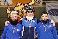 SCHAATSEN: HEERENVEEN: IJsstadion Thialf, 07-03-2008, VikingRace, Inge Bervoets (NED), Lotte van Beek (NED), Hege Bøkko (NOR), ©foto Martin de Jong