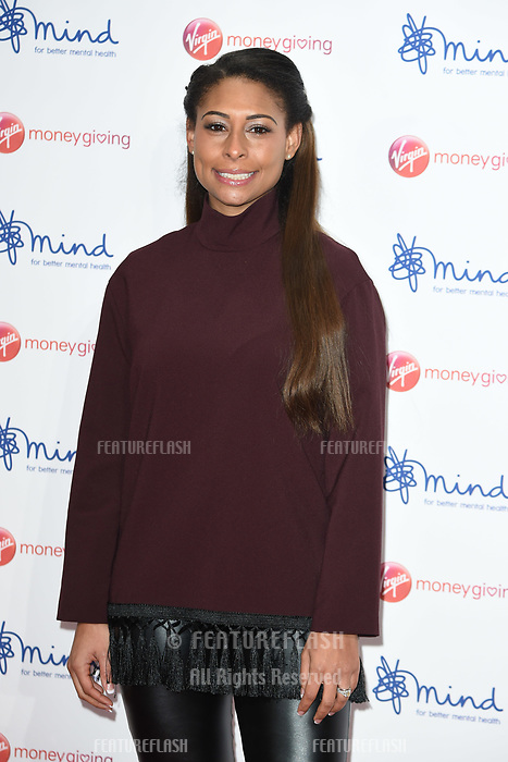 Rachel Bruno at the Virgin Money Giving Mind Media Awards at the Odeon Leicester Square, London, UK. <br /> 13 November  2017<br /> Picture: Steve Vas/Featureflash/SilverHub 0208 004 5359 sales@silverhubmedia.com