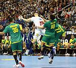 11.01.2019, Mercedes Benz Arena, Berlin, GER, BRA vs. FRA, im Bild <br /> Jose Toledo (BRA #10), Rudolph Hackbarth (BRA #77), Kentin Mahe (FRA #14), Thiago Ponciano (BRA #35)<br /> <br />      <br /> Foto &copy; nordphoto / Engler