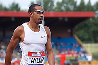 Christian Taylor of United States before the Men's 400m during the Muller Grand Prix  IAAF Diamond League meeting at Alexander Stadium, Perry Barr, Birmingham.<br /> Picture by Alan Stanford +44 7915 056117<br /> 18/08/2018
