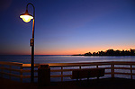 Santa Cruz Muni Wharf at sunset
