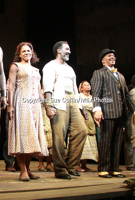 "All My Children Norm Lewis and Audra McDonald star as ""Porgy and Bess"" along with David Alan Grier in The Gershwins' Porgy and Bess on Opening Night - January 12, 1212 at the Richard Rogers Theatre, New York City, New York.  (Photo by Sue Coflin/Max Photos)"