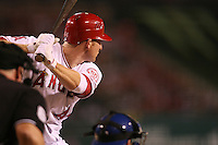 08/16/11 Anaheim, CA: Los Angeles Angels first baseman Mark Trumbo #44 during an MLB game played between the Texas Rangers and the Los Angeles Angels at Angel Stadium. The Rangers defeated the Angels 7-3.
