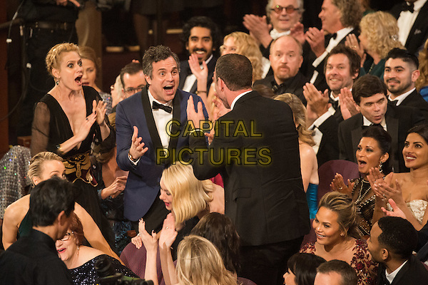 Sunrise Coigney and Oscar&reg;-Nominee, Mark Ruffalo, react to the announcement for the Oscar&reg; for Best motion picture of the year, for work on &ldquo;Spotlight&rdquo; during the live ABC Telecast of The 88th Oscars&reg; at the Dolby&reg; Theatre in Hollywood, CA on Sunday, February 28, 2016.<br /> *Editorial Use Only*<br /> CAP/PLF<br /> Supplied by Capital Pictures