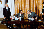 Leonid Ilyich Brezhnev, General secretary of the CPSU CC in the USA. San Clemente, CA. The signing of the Joint Soviet-American Communique. Leonid Ilyich Brezhnev with Richard Nixon, President of the USA. June 26, 1973 - - A break in at the Democratic National Committee headquarters at the Watergate complex on June 17, 1972 results in one of the biggest political scandals the US government has ever seen.  Effects of the scandal ultimately led to the resignation of  President Richard Nixon, on August 9, 1974, the first and only resignation of any U.S. President.