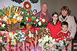 Ronn Potts, shows his christmas collection on display to Susan, Karen and John Whealhan, at the arts and crafts fair at the Resource  centre Loughill on Sunday.....   Copyright Kerry's Eye 2008