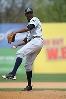 Trenton Thunder pitcher Jairo Heredia (30) during game against the New Britain Rock Cats at New Britain Stadium on May 7 2014 in New Britain, CT.  Trenton defeated New Britain 6-4.  (Tomasso DeRosa/Four Seam Images)
